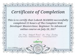 Udemy Course Completion Certificate Udemy In 2019 Course
