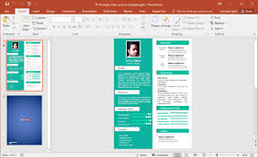 Resume In Powerpoint Free Single Slide Resume Template For Powerpoint