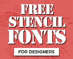 Stencil Fonts Free Stencil Fonts Fonts Graphic Design Junction