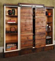 sliding barn door wall unit