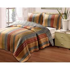 orange and brown bedding. Interesting Brown 3 Piece Soft Cozy Brown Grey Yellow Red King Quilt Set Colorful Rich Warm  Tones For Orange And Bedding N