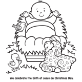 Jesus Manger Coloring Page 160x160 christmas coloring pages, free christmas coloring pages for kids on oriental trading free christmas coloring pages