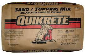 Quikrete Sand Topping Mix Coverage Chart Sand Topping Mix 25kg
