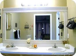 bathroom mirrors framed. Mirror Framing Kit Lowes Bathroom Frames Best Frame Mirrors Ideas On Framed