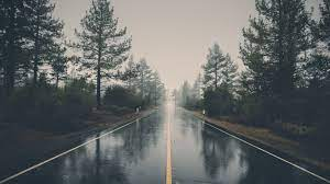 Looking down the Rainy Road [1920x1080 ...