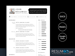 Modern Looking Font For Resume Sethos Modern Black White Resume Template Resumgo Com