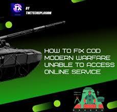 fix cod modern warfare unable to access
