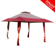 Gazebo Canopy Lights 13 X 13 Easy Pop Up Canopy Outdoor Yard Patio Double Roof