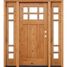rustic double front door. Craftsman Rustic 6 Lite Stained Knotty Alder Double Front Door L
