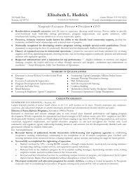 Sample Resume Executive Director Non Profit Organization New Best