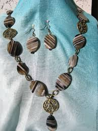necklaces beads handmade necklaces earrings the silence of the desert agate