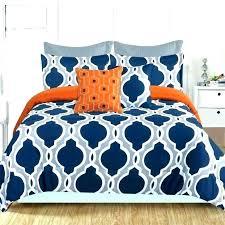 grey blue bed linen orange and gray bedding c comforter set sets