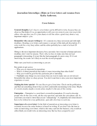 Latest Journalism Cover Letter To Design Cover Letter