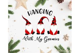 #christmasdecorations #christmas #gnome #gnomes #gnomies #svg #cricut #crafters #craftersofinstagram #diy #svgful. Hanging With My Gnomies Svg Cutting File 391580 Illustrations Design Bundles