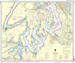 Noaa Chart 18448 Puget Sound Southern Part