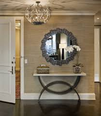 table for entryway. Console Table Entryway Entry Transitional With Round Mirror Dark Floor For