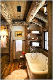 Amazing Lake Cabin Bathroom Decor Log Decorating Ideas