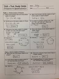 Diagram of lines and transversals. Unit 7 Polygons And Quadrilaterals Homework 3 Answer Key