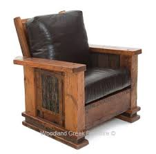 Mountain Lodge Style Rustic Chair Available at Woodland Creek