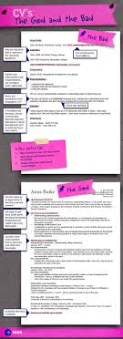 bad resume format cvs the good and the bad how to write a killer cv to get the job