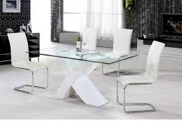 arizona white high gloss dining table with 4 chair