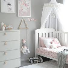grey, white, pink girl's bedroom