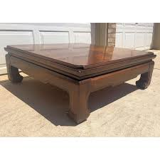 Coffee tables are typically rectangular, the long edge should run across the amount of a sofa. Vintage Thomasville Ming Style Coffee Table Chairish Coffee Table Coffee Table Prices Coffee Table Vintage