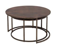 furniture nesting c tables round coffee table copper awesome nesting c tables design ideas