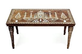 indian coffee table this is a fine vintage coffee table made from wood and inlaid with bone large indian coffee tables uk