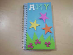 Register Decoration Design Classy How To Decorate A Spiral Notebook EP Simplekidscrafts