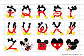 free printable mickey mouse letters