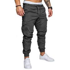 VERTVIE 2018 Arrival <b>Cargo Pants Men</b> Pockets <b>Solid</b> Zipper ...