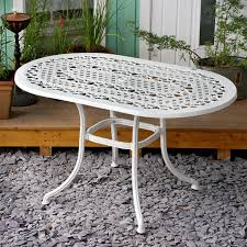white garden furniture. Elise 4 Seater White Garden Metal Table 1 Furniture H
