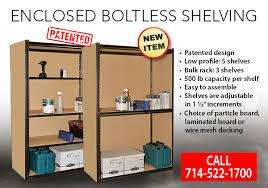 new innovative design for boltless shelving