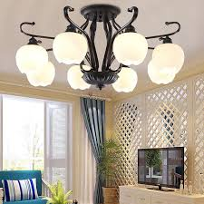 2018 ceiling lamp modern minimalist living room lamp warm master bedroom nordic restaurant personality glass chandelier from happylights 131 78 dhgate