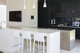 breakfast bar in modern kitchen