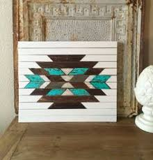 reclaimed wood aztec wall art