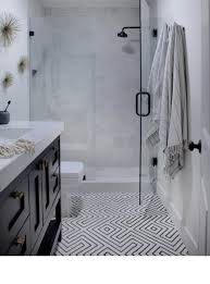 fine line 1 19 modern black and white geometric bathroom floor