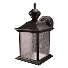 heath zenith city carriage 150 degree black outdoor motion sensing lantern