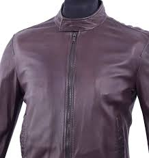 2 of 4 dolce gabbana ventanni lamb leather jacket with logo brown 04557