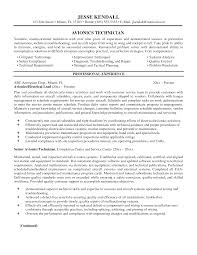 Aviation Electronics Technician Resume Free Resume Example And