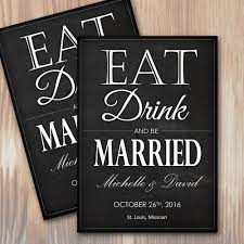 Print Your Own Save The Date Eat Drink And Be Married Wedding Save The Date Invitation Instant Download