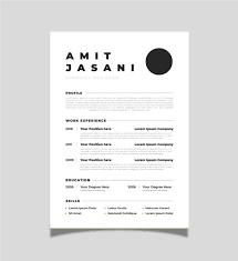 Free Minimalist Resume Template Templatefree Ml
