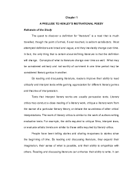 Book critique writing is very important task and you need a lot of time and patience to succeed. Doc A Prelude To Henley S Motivational Poesy Rationale Of The Study Leo Aberion Academia Edu