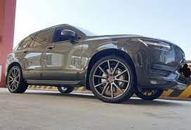 Volvo Xc90 Spa Grey With Vossen Vfs 1 Aftermarket Wheels Wheel Front Volvo Xc90 Aftermarket Wheels Volvo