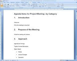 Meeting Agenda Template Word 2010 Best Photos Of Template For Creating An Agenda Meeting