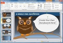 Animated Owl Powerpoint Template For Presentations On Knowledge