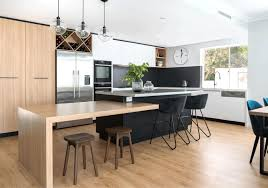 Modern Co Kitchen With Island Bench And Dropdown Table