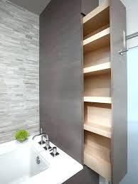 Built In Bathroom Storage Built In Wall Shelves Bathroom Built In