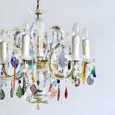 brass french glass chandelier with multicolored drops for multi coloured color earrings id f